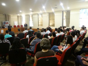Bernardo Cabral durante palestra