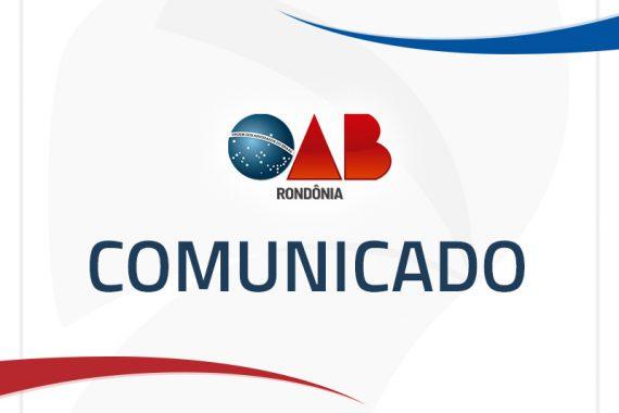 OAB/RO não terá expediente nessa sexta-feira (15)