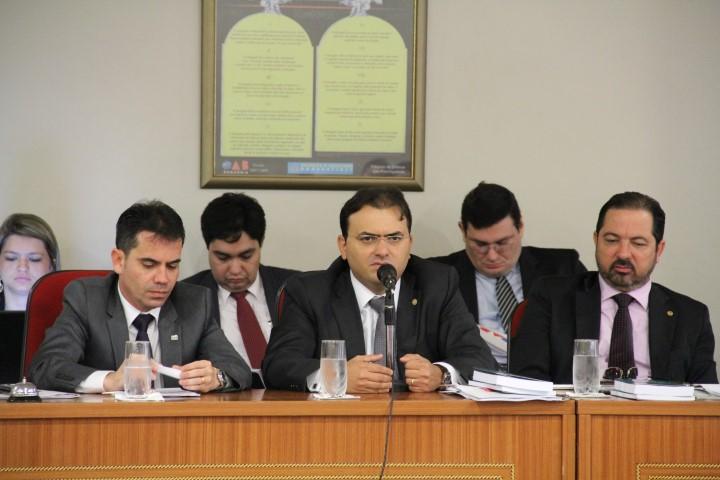 Sessão do Conselho com presidente do CFOAB, Marcus Vinícius