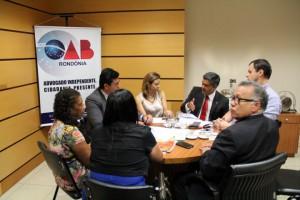 22.02.16 - OAB-RO se reúne com Abracrim e debatem melhorias para a advocacia criminal