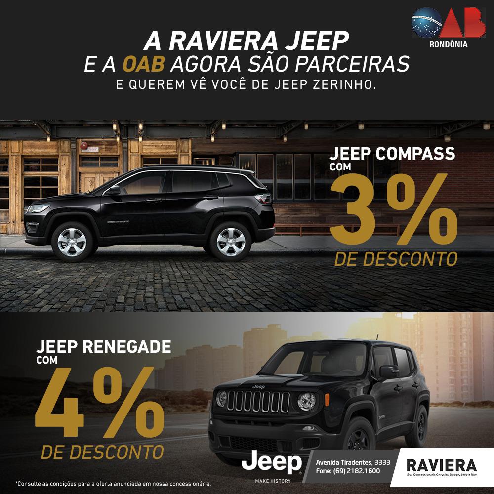 Oab Ro E Raviera Jeep Firmam Convenio Com Descontos Para Advocacia