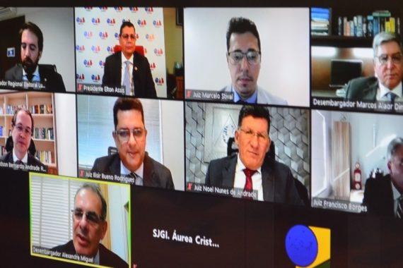 Elton Assis prestigia solenidade de posse de Edson Bernardo Andrade Reis Neto como juiz titular do TRE-RO