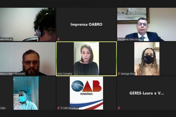 OAB solicita à Sejus previsão de retorno das visitas presencias nas unidades prisionais de Vilhena e implantação do parlatório virtual